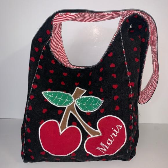 MARIS Handbags - MARIS brand cloth shoulder bag with big 🍒 & ♥️ s